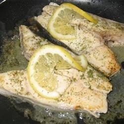 Lemon/Dill Halibut Steaks
