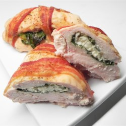 Bacon Wrapped Turkey Breast Stuffed with Spinach and Feta