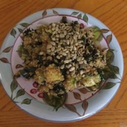 quinoa kale and avocado salad with lemon dijon vinaigrette