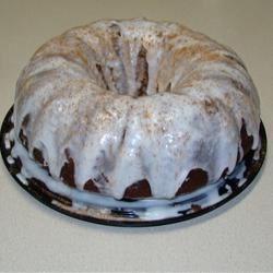 Vanilla Glaze on Pumpkin Spice Bundt Cake
