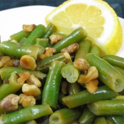 Lemon Green Beans with Walnuts Recipe
