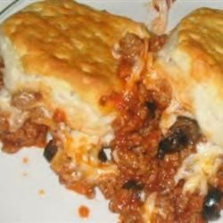 Photo of Easy Upside-Down Pizza Casserole  by Jenni
