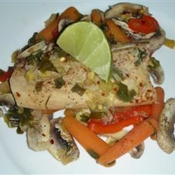 Steamed Mahi Mahi & Veggies