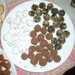 Sugar Coat, Chocolate Coat and Walnut Coat Rum Balls!