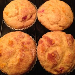 Moist Cranberry Pecan Muffins