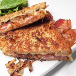 Gouda Onion Bacon (GOB) Grilled Cheese