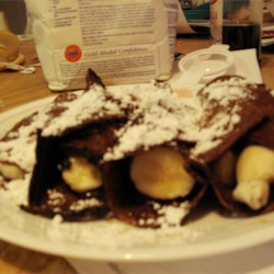 Chocolate Banana Crepes