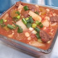 Navy Bean Soup With Sirloin Tips