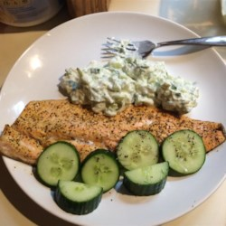 Rainbow Trout with Yogurt Sauce