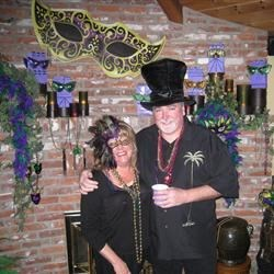 Entertaining at a Mardi Gras party