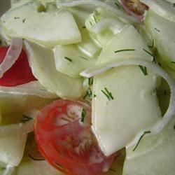 Easy Lemony-Dilly Cucumber Salad Recipe