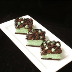 St. Patty's Mint Cheesecake Bars