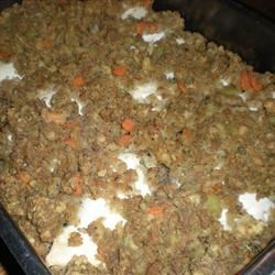 Baked Chicken with Applesauce Stuffing Recipe