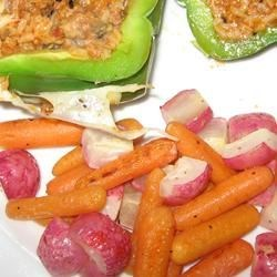 Photo of Roasted Carrots and Radishes by Kathleen
