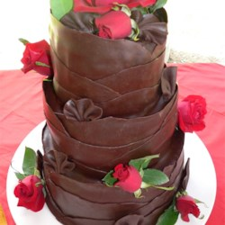 Triple chocolate wedding cake