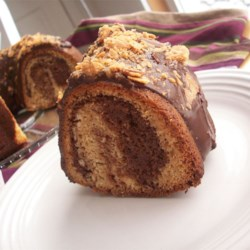 Chocolate Peanut Butter Marble Cake Recipe