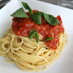 spaghetti sauce with fresh tomatoes printer friendly