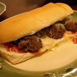Microwave Meatball Sandwich in Ten Minutes Recipe