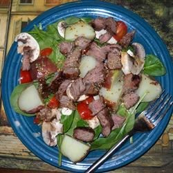 Warm Steak and Potato Salad Recipe