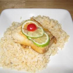 Lime-Poached Mahi Mahi