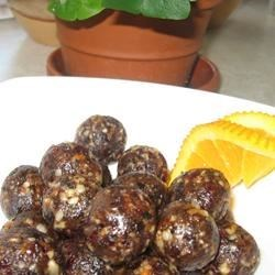 Photo of Orange-Fruit Nut Truffles by USA WEEKEND columnist Jean Carper