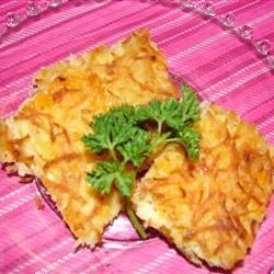 Cheesy Potato Kugel Recipe