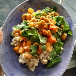 Asian recipes allrecipes vegetarian korma recipe and video this is an easy vegetarian curry its rich forumfinder Images