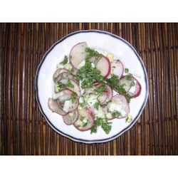 Radish Salad With Parsley & Chopped Eggs Recipe