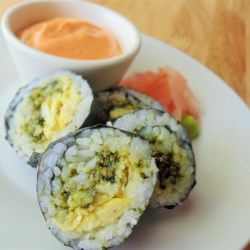 Egg and Pesto Sushi