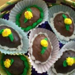 Krispie Treat Decorated Eggs