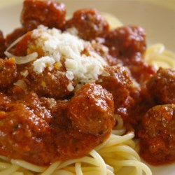 Italian recipes allrecipes italian spaghetti sauce with meatballs recipe and video big tasty beef meatballs are simmered forumfinder Gallery
