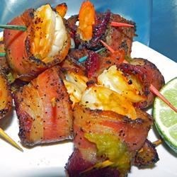 Garlic Lime Bacon-Wrapped Shrimp Recipe