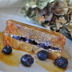 Easy Blueberries And Cream French Toast Sandwich with Orange Maple Syrup Recipe