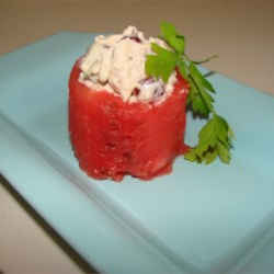 Chicken Salad in Watermelon Cup