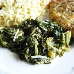 Sauteed Swiss Chard with Parmesan Cheese |