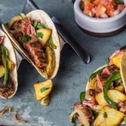 steak and potato tacos with poblano chilies printer friendly