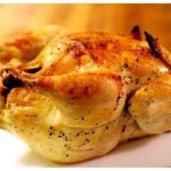 Poulet r ti au four recettes poulet preparation poulet - Cuisiner poulet entier ...