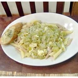 Green Tomato Pasta Toss Recipe