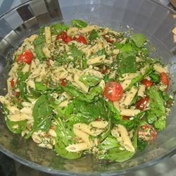Pasta with Cilantro Pesto and Barley