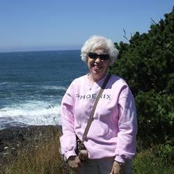 Sue at the Oregon Coast
