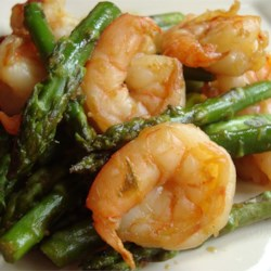 Jumbo Shrimp and Asparagus