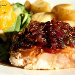 Salmon with Marmalade-Balsamic Sauce Recipe