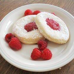 Ice Cream Kolacky With Raspberry Filling
