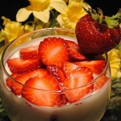 Swedish Cream with Summer Berries Recipe