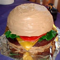 My Burger Cake for My Recipe!