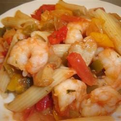 Picante Shrimp 'n' Pepper Pasta