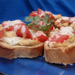 Bruschetta with Hummus Recipe