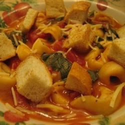 Minute Tomato Soup with Tortellini Recipe