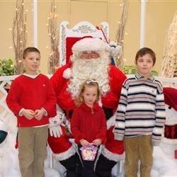 Seeing Santa 2009