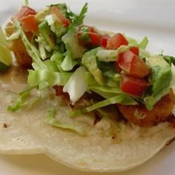 Photo of Panko-Fried Salmon Fish Tacos by rivche